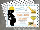 Construction themed Baby Shower Invitations Under Construction Baby Shower Invitation by Treschicparty