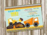 Construction themed Baby Shower Invitations Under Construction theme Baby Shower Invitation Set Of