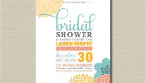 Contemporary Bridal Shower Invitations Printable Bridal Shower Invitation Modern by Rosiedaydesign