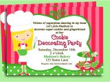 Cookie Decorating Party Invitation Wording Christmas Cookie Invitation Printable or Printed by