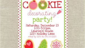 Cookie Decorating Party Invitations Christmas Cookie Decorating Party Unique Pastiche events