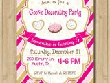 Cookie Decorating Party Invitations Cookie Decorating Birthday Invitation Christmas Cookie