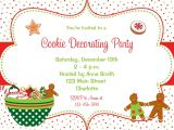 Cookie Decorating Party Invitations Cookie Decorating Party Invitation Christmas Cookies