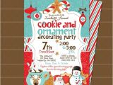 Cookie Decorating Party Invitations Holiday Cookie and ornament Decorating Party Invitation