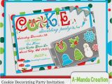 Cookie Decorating Party Invitations Items Similar to Christmas Cookie Decorating Party