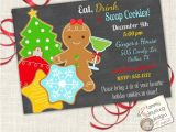 Cookie Swap Party Invitations Christmas Cookie Exchange Invitation Customized Cookie Swap