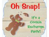 Cookie Swap Party Invitations Oh Snap Christmas Cookie Exchange Party Invitation