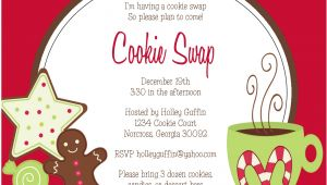Cookie Swap Party Invitations Templates 7 Best Images Of Cookie Swap Printable Invitations