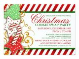 Cookie Swap Party Invitations Templates Christmas Cookie Swap Party Invitation Zazzle