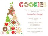 Cookie Swap Party Invitations Templates Cookie Exchange Invitation Templates orderecigsjuice Info