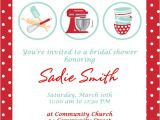 Cooking Bridal Shower Invitations Retro Kitchen themed Bridal Shower Invitation by Cohenlane