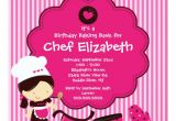 Cooking Party Invitation Template Free Cooking Baking Birthday Party Invitation Zazzle Com