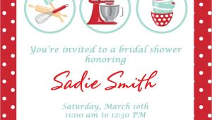 Cooking themed Bridal Shower Invitations Bridal Shower Invitations Free Kitchen Bridal Shower