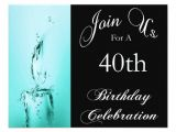 Cool 40th Birthday Invitations 40th Birthday Party Personalized Invitation