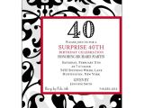 Cool 40th Birthday Invitations Fun Faux Flocked 40th Birthday Invitations