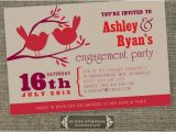 Cool Engagement Party Invitations Love Birds Engagement Party Invitation Unique Engagement and