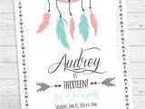 Cool Party Invites for Teenager Boho Birthday Invitation Aztec Tribal Invitation by