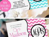 Cool Party Invites for Teenager Teen Girl Birthday Invitation Monogram Birthday Invitation