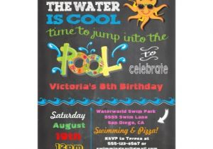 Cool Pool Party Invitation Ideas Chalkboard Birthday Pool Party Invitation