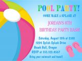 Cool Pool Party Invitation Ideas Cool Pool Party Invitations