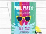 Cool Pool Party Invitation Ideas Items Similar to Girls Pool Party Invitation Cool