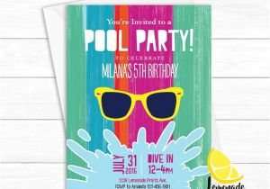 Cool Pool Party Invitation Ideas Items Similar to Girls Pool Party Invitation Cool