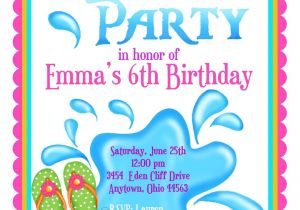 Cool Pool Party Invitation Ideas Kids Pool Party Invite Home Party Ideas
