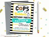 Cops and Robbers Party Invitations Cops and Robbers Birthday Invitation Police Birthday