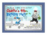 Cops and Robbers Party Invitations Cops N Robbers Cartoon Party Invitation 5 Quot X 7 Quot Invitation