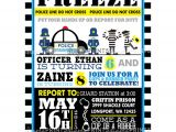 Cops and Robbers Party Invitations Cops Robbers Printable Birthday Invite Dimple Prints Shop