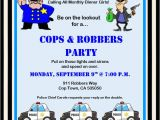 Cops and Robbers Party Invitations Invite and Delight Cops and Robbers Party