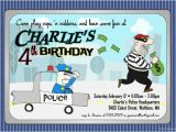 Cops and Robbers Party Invitations Items Similar to Cops N Robbers Party Invitation
