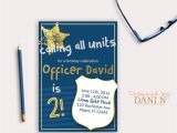 Cops and Robbers Party Invitations Police Birthday Party Invitation Cops and Robbers Party Navy