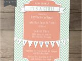 Coral and Mint Baby Shower Invitations Baby Shower Invitations Mint Coral Chevron Printable