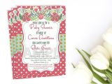 Coral and Mint Baby Shower Invitations Floral Baby Shower Invitation Coral and Mint Baby Shower