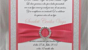 Coral Quinceanera Invitations Coral Peach Quinceanera Sweet Sixteen Invitation by