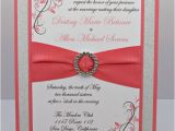 Coral Quinceanera Invitations Coral Wedding Quinceanera Sweet 16 Invitation by