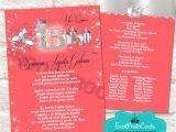 Coral Quinceanera Invitations order Our New Design Coral and Silver Quinceanera