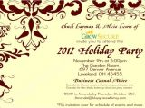 Corporate Holiday Party Invitation Text Custom Corporate Holiday Party Invitation W Crimson Flourish