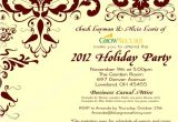 Corporate Holiday Party Invitation Wording Custom Corporate Holiday Party Invitation W Crimson Flourish