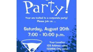 Corporate Party Invitation Template Corporate Party Invitations Company Invites Zazzle Com