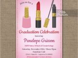Cosmetology Graduation Invitations Graduation Party Invitation Makeup Beauty Cosmetics