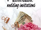 Cost Of Diy Wedding Invitations Wedding 7 Tips for Low Cost and Affordable Wedding