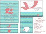 Cost Of Party Invitations Free Mermaid Party Printables I Will even Customize the