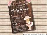 Country Baby Shower Invites Cowgirl Baby Shower Invitation Vintage Peach Country Wood