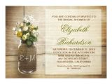 Country Bridal Shower Invitations Cheap Country Rustic Mason Jar Bridal Shower Invitations