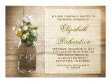 "Country Bridal Shower Invites Country Rustic Mason Jar Bridal Shower Invitations 5"" X 7"