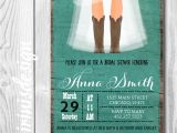 Country Bridal Shower Invites Rustic Cowgirl Bridal Invitation Country Bridal Shower