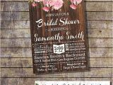 Country Chic Bridal Shower Invitations Country Chic Bridal Shower Invitation Bachelorette Engagement