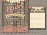 Country Chic Bridal Shower Invitations Garden Rustic Baby Lingerie Bridal Shower Invite Wood Pink
